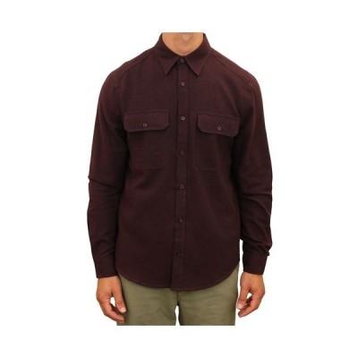 マウンテン アンド アイルス シャツ トップス メンズ Men's Chambray Flannel Two Pocket Button Down Shirt Brown