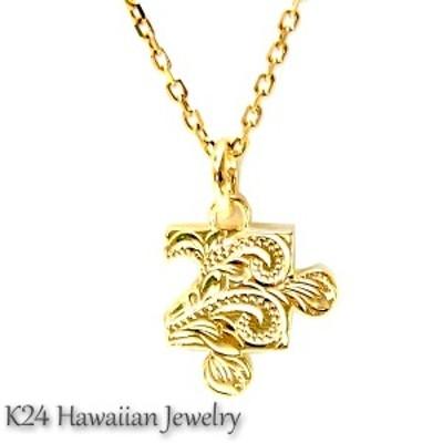 送料無料 ハワイアンジュエリー K24 純金 コーティング k24 パズル ペンダント ネックレス gps8777all24k