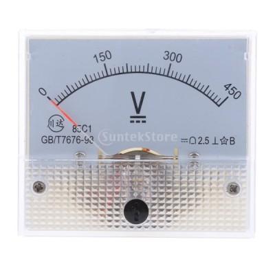 高品質 85C1 DC アナログパネル 電圧計 全14種 アナログ電流計 交換性 - 0-450V