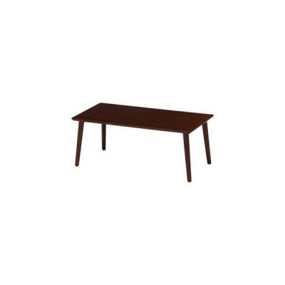 ds-1950906 北欧風 突板ローテーブル/センターテーブル 【ブラウン】 幅80cm 長方形 木製 〔リビング ダイニング〕