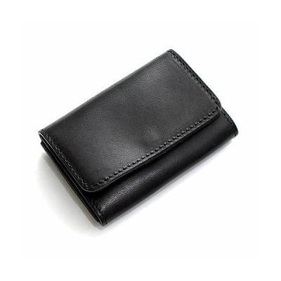 タチヤ TACHIYA カードケース 栃木レザー カードケース 本革 名刺入れ (01-h0433n) 01/ブラック