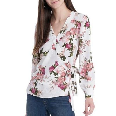 ヴィンスカムート レディース シャツ トップス Long Sleeve V-Neck Floral Wrap Front Blouse New Floral