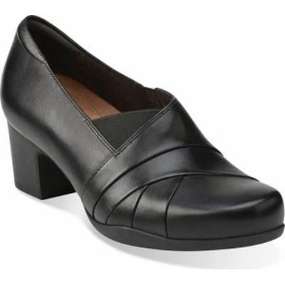 クラークス レディース スリッポン・ローファー シューズ Women's Clarks Rosalyn Adele Black Leather