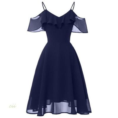 ドレス ワンピース 結婚式 服 30代 刺繍 ひざ丈 チュール パーティー 40代 体型カバー レース 20代 ドレス 大きいサイズ