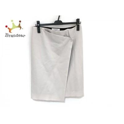 アドーア ADORE 巻きスカート サイズ38 M レディース 美品 - ライトグレー ひざ丈 新着 20200829