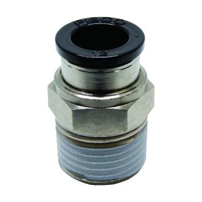 ピスコ チューブフィッティング ストレート 適合外径12mm 接続口径R1/2 PC12-04≪代引不可≫