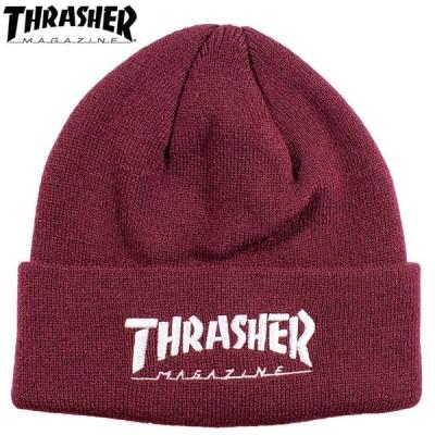 スラッシャー ビーニー ニットキャップ 帽子 BEANIE カジュアル ファッション 男女兼用 THRASHER 20TH-N52