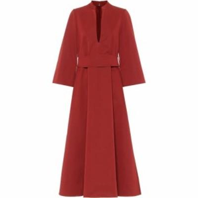 ジル サンダー Jil Sander レディース パーティードレス ミドル丈 ワンピース・ドレス Cotton and silk midi dress Medium Red