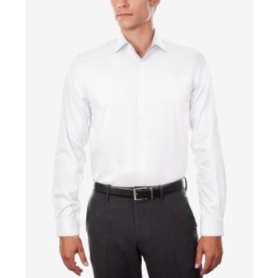 マイケルコース メンズ シャツ トップス Men's Regular Fit Airsoft Stretch Non-Iron Performance Solid Dress Shirt White