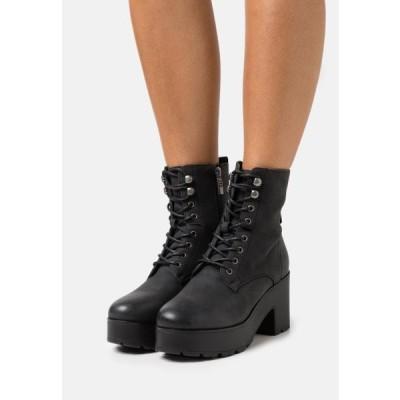 レディース 靴 シューズ EMELINE - Lace-up ankle boots - black