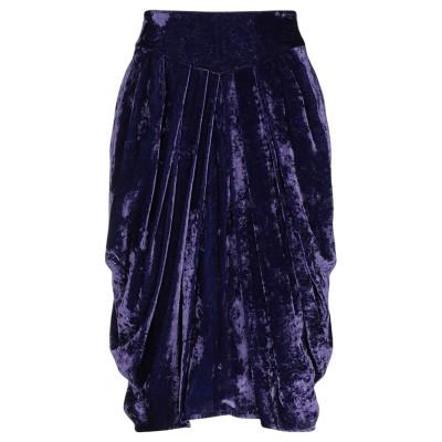 エリカ カヴァリーニ ERIKA CAVALLINI ひざ丈スカート ダークパープル 40 レーヨン 75% / ナイロン 25% ひざ丈スカート