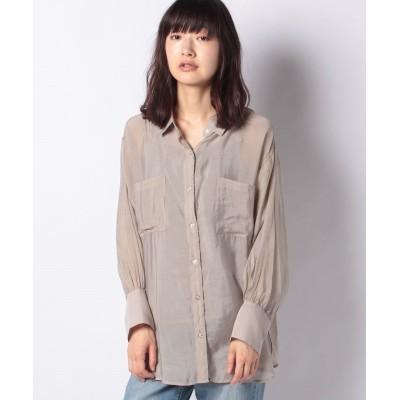 (OLIVE des OLIVE/オリーブデオリーブ)シアーボイルCPOシャツ/レディース グレージュ