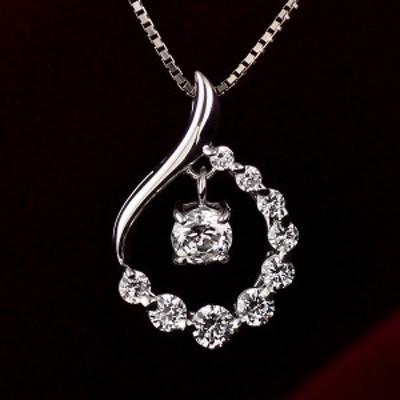 スイート エタニティ ダイヤモンド 10個 ダイヤモンド ネックレス ダイヤモンド プラチナ ネックレス 結婚 10周年記念