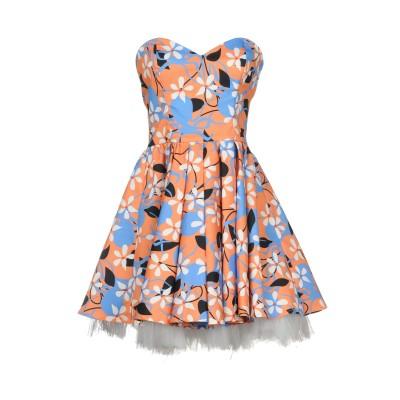 デニーローズ DENNY ROSE ミニワンピース&ドレス オレンジ 42 ポリエステル 95% / ポリウレタン 5% / ナイロン ミニワンピー
