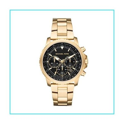 Michael Kors Men's Theroux Analog-Quartz Watch with Stainless-Steel-Plated Strap, Gold, 18 (Model: MK8642)【並行輸入品】