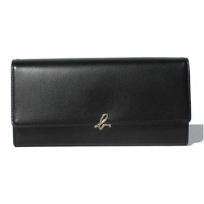 アニエスべー 財布 長財布 かぶせ ブラック agnes b