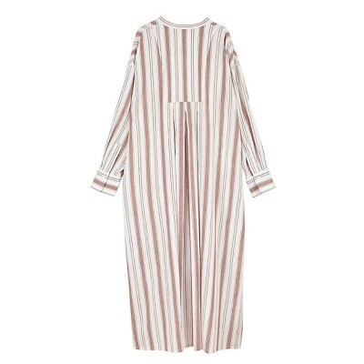 <OUTERSUNSET/アウターサンセット> smooth linen stripe onepiece RED【三越伊勢丹/公式】