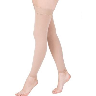 女性静脈瘤ストッキングふくらはぎ袖ソックス医療圧縮20-30Mmhg弾性ストッキングあらゆるフィットネス活動をハイキングするために通気性,Flesh,