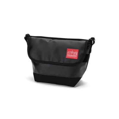 【マンハッタン ポーテージ】 Matte Vinyl Casual Messnger Bag ユニセックス Black XS Manhattan Portage