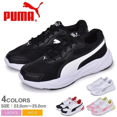 PUMA プーマ スニーカー 90SランナーメッシュJR 372926 レディース キッズ 子供 ジュニア 靴 シューズ