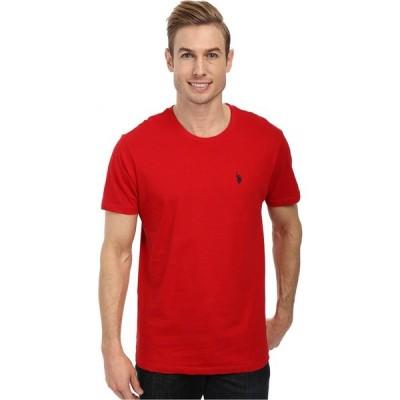 ユーエスポロアッスン U.S. POLO ASSN. メンズ Tシャツ トップス Crew Neck Small Pony T-Shirt Engine Red