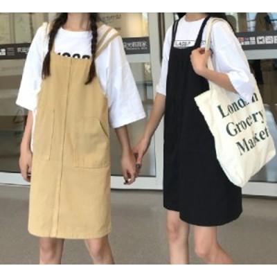キャミワンピース レディース オールインワン サロペットスカート【R0078】