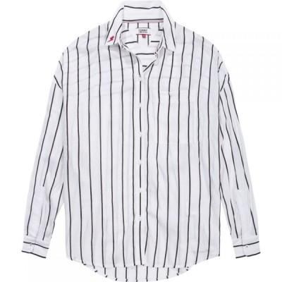 トミー ジーンズ Tommy Jeans レディース ブラウス・シャツ トップス Stripe Shirt Black and White