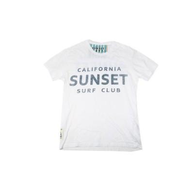 SUNSET SURF/サンセットサーフ S/S Tシャツ「サンセットサーフクラブ」 オプティックホワイト BY ジョンソンモータース  あすつく