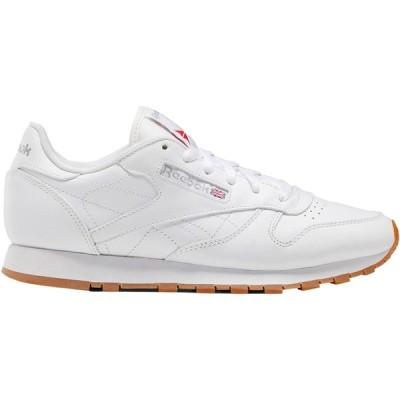 リーボック スニーカー レディース シューズ CL Leather Sneaker - Women's Us-White/Gum