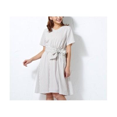 【大きいサイズ】 ローズファンファン ストライプワンピース ワンピース, plus size dress