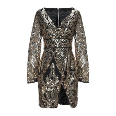 MANGANO ミニワンピース&ドレス ゴールド M ポリエーテル 95% / ポリウレタン 5% ミニワンピース&ドレス