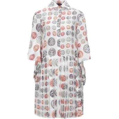 ロベルト カヴァリ ROBERTO CAVALLI ミニワンピース&ドレス ホワイト 46 シルク 100% ミニワンピース&ドレス