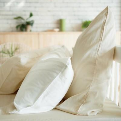 Fab the Home 枕カバー ホワイト 43x63cm用 ダブルガーゼ FH112820-100