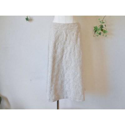 美品 2013年 インゲボルグ INGEBORG 豪華 刺繍 入り スカート 11
