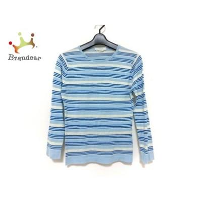 ジョンスメドレー 長袖セーター サイズS レディース 美品 ライトブルー×アイボリー×ネイビー 新着 20200630