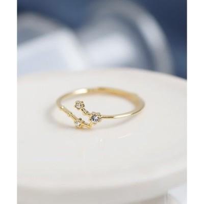 指輪 ビジューが紡ぐ星座リング
