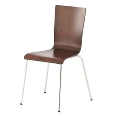 オフィスチェア プライウッドチェア 4脚セット シンプル チェア イス オフィス用 ダークブラウン (  椅子 オフィス スタッキング スタッキングチェア チェアー 会議椅子 ミーティングチェア オフィス家具 セット 会議室 事務所 )