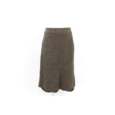 エポカ(EPOCA)茶系ファートリミングスカート