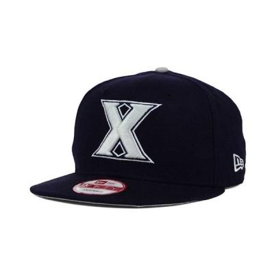 ニューエラ 帽子 アクセサリー メンズ Xavier Musketeers Core 9FIFTY Snapback Cap Navy