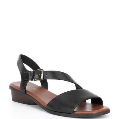アレックスマリー レディース サンダル シューズ Boenny Leather Asymmetrical Sandals Black
