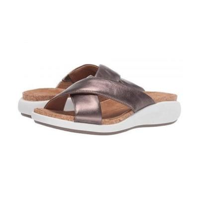 Clarks クラークス レディース 女性用 シューズ 靴 ヒール Un Bali Go - Pebble Metallic Leather