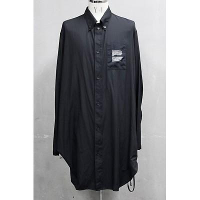 <JULIUS/NILφS/ユリウス/ニルズ> ドローコードロングシャツ 20SS‐P‐8‐687SHM2 BLACK【三越伊勢丹/公式】