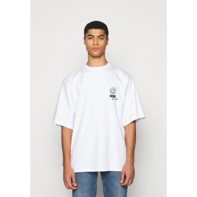 ジーシーディーエス Tシャツ メンズ トップス OVERSIZE TEE - Print T-shirt - white