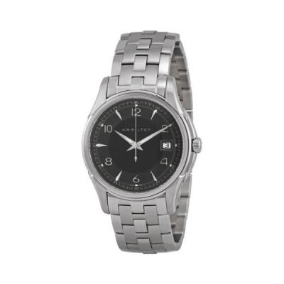 ハミルトン Jazzmaster クォーツ ブラック ダイヤル Metal ブレスレット メンズ 腕時計 H32411135