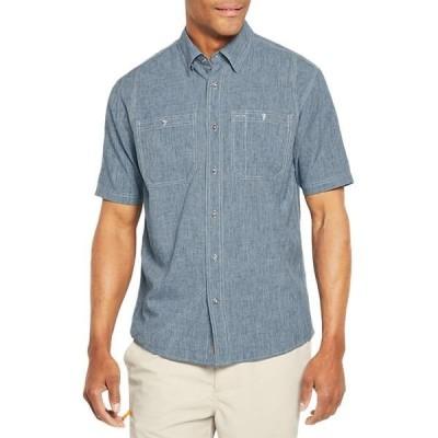 オービス メンズ シャツ トップス Tech Chambray Short-Sleeve Work Shirt