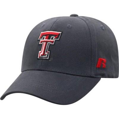 メンズ スポーツリーグ アメリカ大学スポーツ Men's Russell Athletic Charcoal Texas Tech Red Raiders Endless Adjustable Hat - OSFA