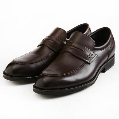 定価22,000円 madras Walk MW5907 マドラスウォーク ゴアテックス GORE-TEX 本革 防水 防滑 幅広 牛革 ローファー 紳士靴 ビジネスシューズ ダークブラウン