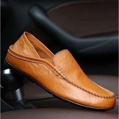 限定セールスリッポンメンズ無地レザーローカット靴スニーカー夏涼しいスリッポンシューズ男ビジネス男性スニーカーファッションthg8