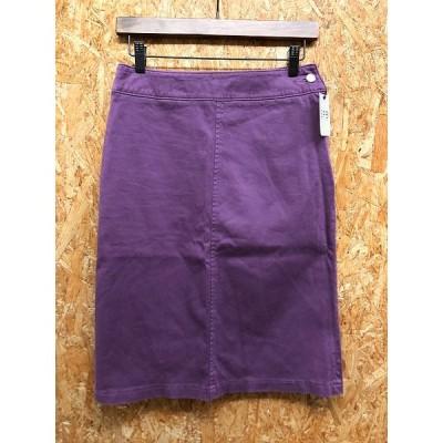 SPIRIT PASSION BELIEF SPB - 3 レディース コクーンスカート ひざ丈 裏地無し バックポケット付き 無地 綿×ポリウレタン パープル 紫