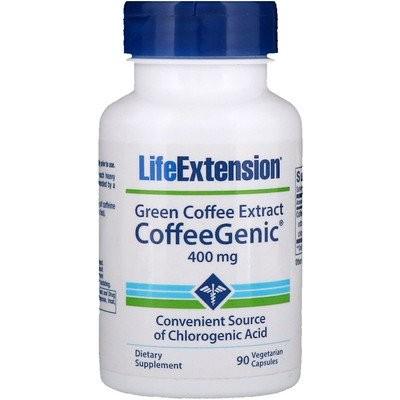 コーヒージニック, グリーンコーヒーエキス, 400 mg, 植物性カプセル90粒